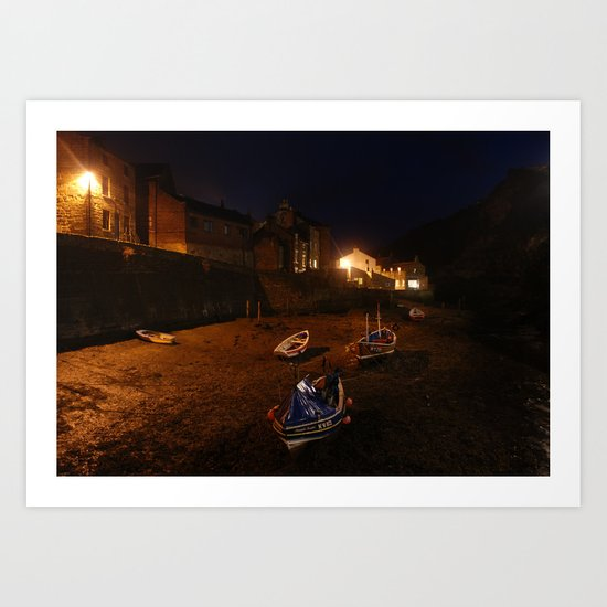Stream by Staithes Art Print