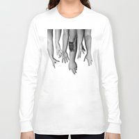 hands Long Sleeve T-shirts featuring Hands by Austin Collins