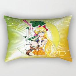 Sailor Moon Super S - Jupiter & Venus Crystal Power! Rectangular Pillow