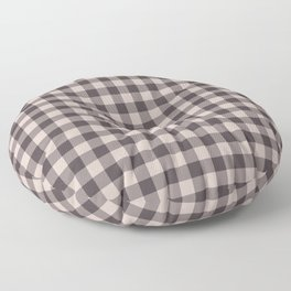 gingham-rose smoke Floor Pillow