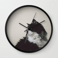 charlie Wall Clocks featuring Charlie by Chelle Wootten