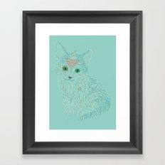 a little cat Framed Art Print