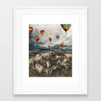 balloons Framed Art Prints featuring Balloons by Mrs Araneae