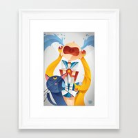 sailormoon Framed Art Prints featuring Crying Sailor Moon by Claudio Bandoli
