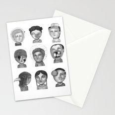 Crazy Heads Stationery Cards