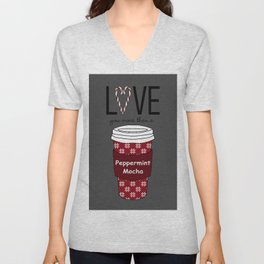 Love You More Than a Peppermint Mocha Unisex V-Neck