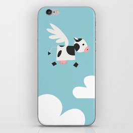 Vacas vuelan iPhone Skin