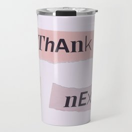 thank you next - Ariana - white Travel Mug