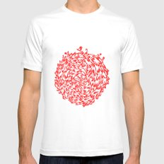 Red Birds MEDIUM White Mens Fitted Tee