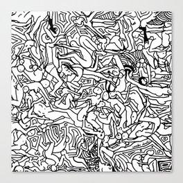 Lots of Bodies Doodle - Closeup Canvas Print