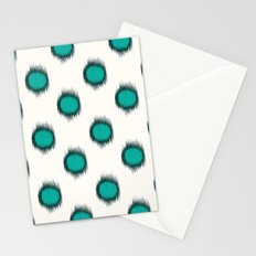 Ikat Dots Teal Stationery Cards