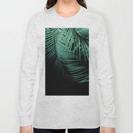 Palm Leaves Green Vibes #3 #tropical #decor #art #society6 Long Sleeve T-shirt