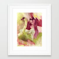trumpet Framed Art Prints featuring trumpet by spatsula