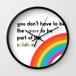 Cause-Solution Wall Clock