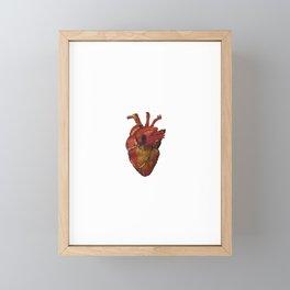My Heart Beats For Love Framed Mini Art Print