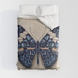 Red Cracker Butterfly - watercolor Comforters