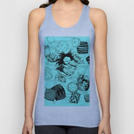 Sleeping Pillows in My Daydream Unisex Tank Top