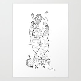 On a cause which contributed to the expulsion of the Lithuanian bear Art Print