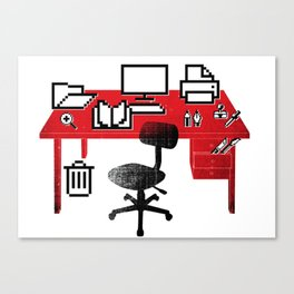 Graphic Workspace Canvas Print