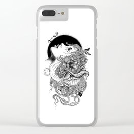 WILD GIRL Clear iPhone Case