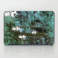 kodama iPad Cases featuring Kodama in the woods by pkarnold + The Cult Print Shop