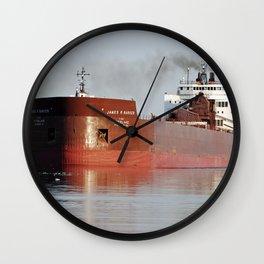 James R Barker Freighter Wall Clock