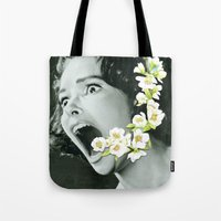 scream Tote Bags featuring Scream by Ben Giles