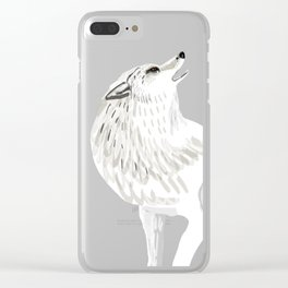 Totem Alaska tundra wolf Clear iPhone Case