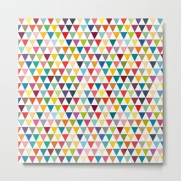 Colorful and tiny geometric triangles Metal Print