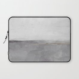 Light & Dark Gray with Gold Charcoal Grey Abstract Painting, Modern Wall Art, Laptop Sleeve