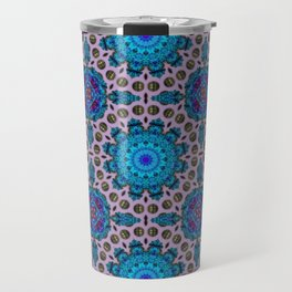 Ficin - Flower mandalas F of Alphabet collection Travel Mug