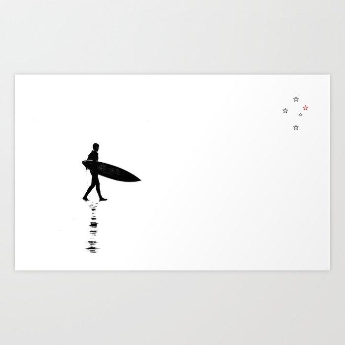 Minimalistic Surfer Art Print