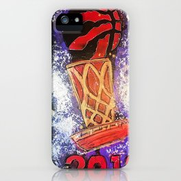 raptors 5,champion,basketball,gold,poster,wall art,2019,winners,NBA,finals,toronto,canada,painting iPhone Case