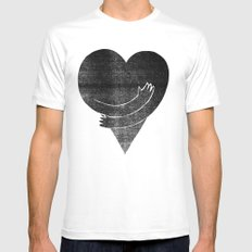 Illustrations / Love MEDIUM White Mens Fitted Tee