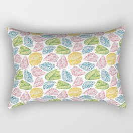 Polka Dot Flowers Rectangular Pillow