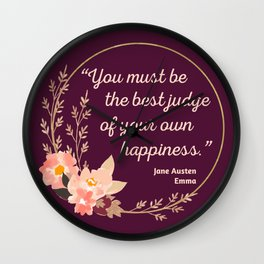 Emma By Jane Austen Quote I - Cute Style Wall Clock
