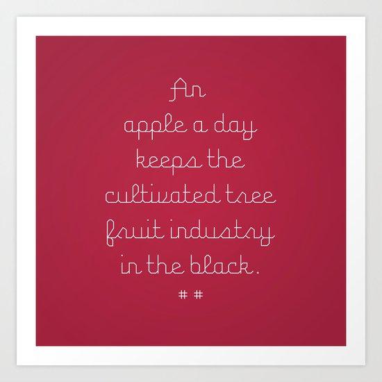 Proverbs: An Apple a Day Art Print