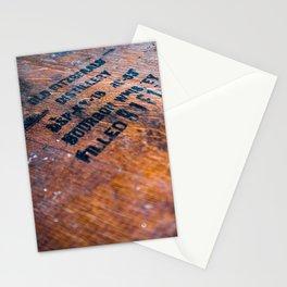Ol' Fitz Barrel Stamp Stationery Cards