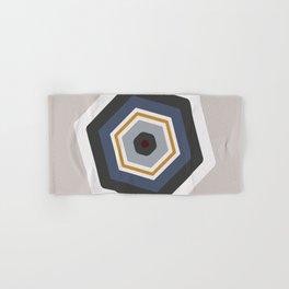 hexagon purple Hand & Bath Towel