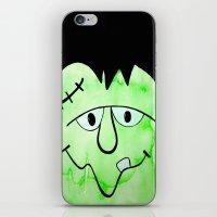 frankenstein iPhone & iPod Skins featuring Frankenstein by HollyJonesEcu