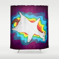 rug Shower Curtains featuring Unicorn Rug by That's So Unicorny