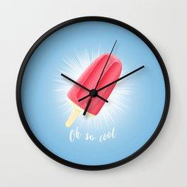 Oh So Cool - Raspberry Wall Clock