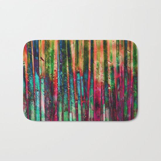 Colored Bamboo Bath Mat