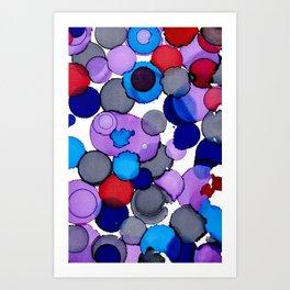 Blue Colour splash Art Print