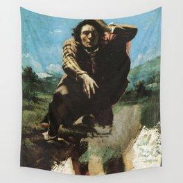 Gustave courbet le désespéré 1844  oil painting Wall Tapestry