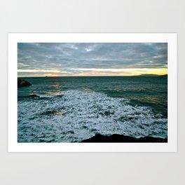 Last Ocean Glow Art Print