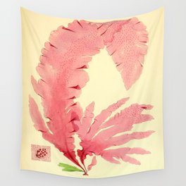 Vintage Botanical illustration, 1844 (Sea Plant) Wall Tapestry
