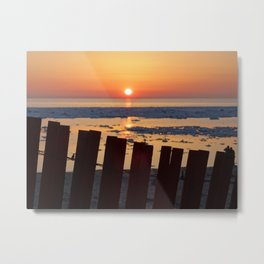 Sunset in Holland, Michigan Metal Print