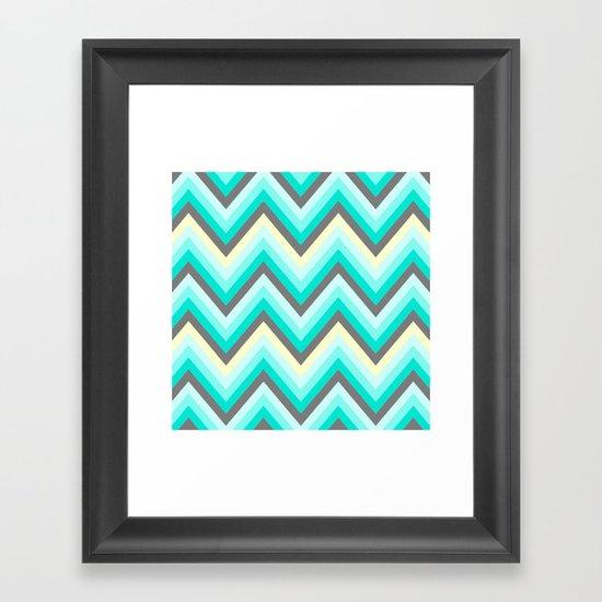 Simple Chevron Framed Art Print