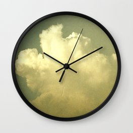 Sunset clouds in paradise Wall Clock
